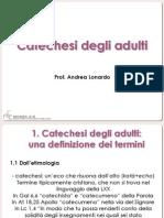 La Catechesi degli Adulti 1