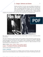 Online Course Film Noir - Danger, Darkness and Dames