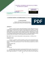 Canister Testing Chamber Design & Analysis Using Fem