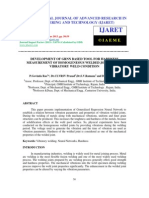 Development of Grnn Based Tool for Hardness Measurement of Homogeneous
