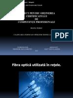 Fibra optică utilizată în reţele Prezentare