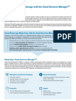 Cloud Brokerage enabled by the Cloud Services Manager