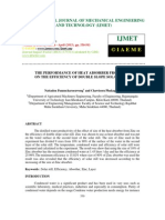The Performance of Heat Absorber From Zinc on the Efficiency