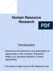 Human Resource Research