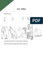 Wild Animals Fisa de Lucru