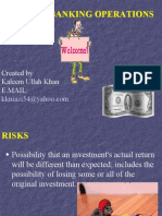 risks in banking operations