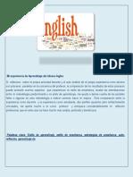Mi Experiencia de Aprendizaje Del Idioma Ingles