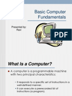 Basic Computer Fundamentals