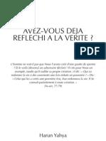 Verite .livre de Harun Yahya . une réflexion sur le Coran . Rebihi Mohamed .Djefla  ufc , Algérie