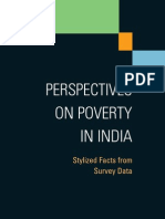 The World Bank Perspectives on Poverty in India Stylized Facts From Survey Data 2011