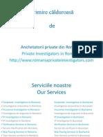 Private Investigators in Romania