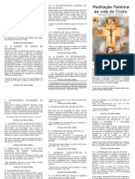 Folder de Meditacao Palotina Da Vida de Cristo