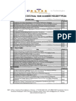 2013_2014 IEEE Final Year Project Booklet TitlesNew