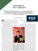 Holografia- Física e Aplicações
