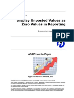 How to Display Unposted Values as Zero Values in Reporting