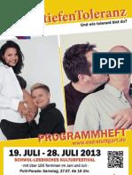 Offizielles Programmheft zum CSD Stuttgart 2013