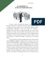 Leadership-Ul CA Sursa de Performanta