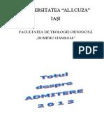 Brosura Pentru Admitere Master - Sesiunea Iulie 2013