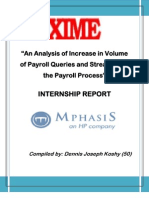 Final PrAn Analysis of Increase in Volume of Payroll Queries and Streamlining the Payroll Processoject Doc
