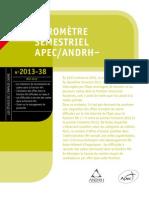 Baromètre APEC-ANDRH - mai 2013