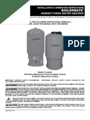 Boilermate Manual | Water Heating | Hvac