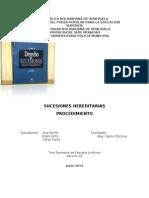 Trabajo Sobre Los Procedimientos en Las Sucesiones Hereditarias