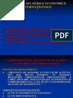 Decizia in Afacerile Economice Internationale
