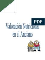 Valoracion Nutricional en El Anciano