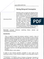 Having, Being and Consumption