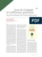 Rene Lemieux - Thomas Bernhard