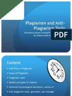 Plagiarism and Antiplagiarism Tools.7maret13