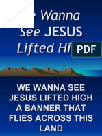 We Wanna See Jesus Lifted High