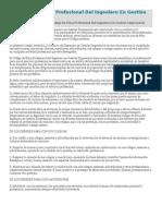 El Código De Ética Profesional Del Ingeniero En Gestión Empresarial.doc
