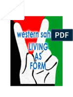 Living as Form in Western Sahara