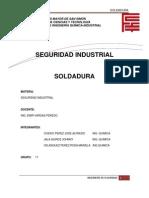 Seguridad Soldadura Informe