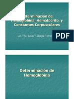 Determinación de Hemoglobina, Hematocrito, y Constantes