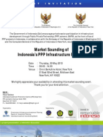 Market Sounding Indonesia's PPP Infrastructure Projects