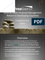 State of Public Financial Management Reform in Developing Countries