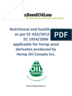 Hemp Foods Claims 2013