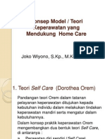 Teori Pendukung Homecare