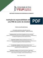 Avaliação da responsabilidade ambiental de uma PME do sector da metalomecânica