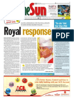 thesun 2009-04-20 page01 royal response