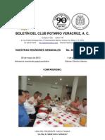 Boletín Rotario del 28 de mayo de 2013