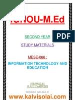Ignou m Ed Mese 066 Study Material