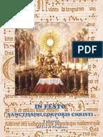 I y II Vísperes de la Solemnidad de Cuerpo del Señor. Forma Extraordinaria del Rito Romano
