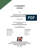 eTendering System SRS