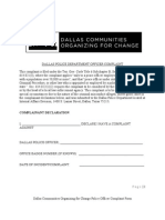 DCOC Police Officer Complaint Form