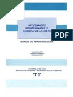 Necesidades Nutricionales y Calidad de la Dieta, Manual de Autoinstrucción.pdf