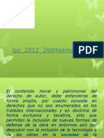 Diapositivas Derecho de Autor a Traves de Internet