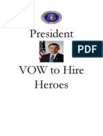 President Vow to Hire Heroes